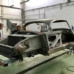 Le châssis de la Chapron qui va être complètement reconstruit