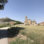 Arrivée à Castrojeriz sous la chaleur