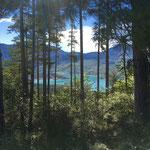 J'aperçois le lac de Sainte-Croix
