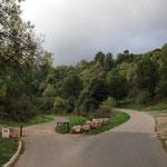 Entrée dans la parc départemental de la Barasse