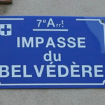 Direction impasse du Belvédère