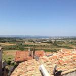 Vue sur la mer de Berre du vieux village