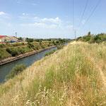 Canal du Rove conduisant à l'embouchure de la Cadière