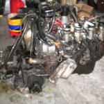 Le moteur déposé