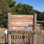Je quitte le sentier du littoral pour prendre la route de Camarat