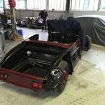 Cabriolet Chapron avec la réfection de la coque et du moteur terminée