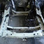 Décapage du berceau moteur