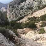 """La descente du """"grand éboulis"""""""