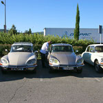 Belle brochette de DS sur le parking de Brignoles