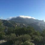 Le mont Puget dans les nuages