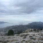 Vue sur les îles Plane et Riou