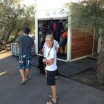 Départ du club de plongée de Saint Tropez