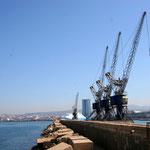 Grues du port