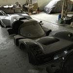 Coque de la voiture de piste de Denis Arnoult