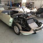 La restauration d'une ID cabriolet (!!) continue