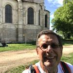Devant la basilique de Vézelay