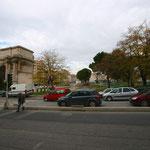 La porte d'Aix encore en travaux (bassin de rétention d'eaux)