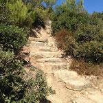 Montée vers le phare de Camarat