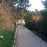 Très agréable chemin sur le canal de Marseille recouvert