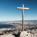 Arrivée à la croix de Marseilleveyre (432 m)