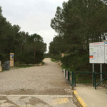 L'entrée du parc national de calanques