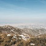 Vue sur Marseille polluée