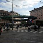 """Station de tram """"l'homme de fer"""", c'était le nom du premier train circulant à Strasbourg."""