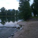 Le camping est sur les bords du Tarn