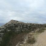 En haut, le belvédère de Saint Michel