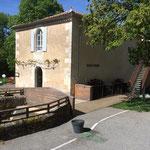 Ancien moulin devenu restaurant
