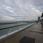 Vue du second étage des terrasses du port
