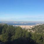 Superbe vue sur le Frioul, les plages de Gaston Defferre et Marseille