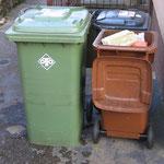 Mülltonnen für Abfuhr bereitstellen