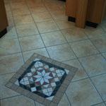 Diagonalverlegung mit Ornament Einbettung