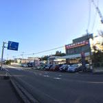 新津本町方面から見た外観です。