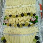 Delizie di formaggi e uva