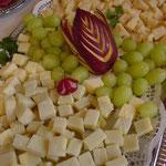 Delizie di formaggio e uva