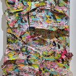 PINK PASTA | 2020 | SCULPTURE PAINTING | MIXEDMEDIA ON PAPER GLUED ON CANVAS | 140 x 90 | 3.500,00€