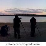 Observateurs d'oiseaux au Lac du Der en Champagne