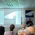 El Dr. Felipe Galván Magaña dando la bienvenida al Northeast Pacific Shark Simposium IV