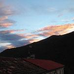 sonnentergang im garten der CASA LEONE - himmelsstimmung