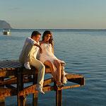 Brautpaar am Steg auf Mauritius