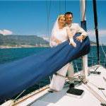 Hochzeit auf einer Yacht vor Kapstadt