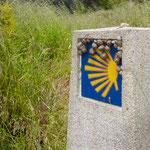 Signpost after O Vilar village