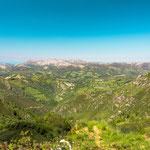 Mountain view towards the Cantabrian Sea, Picos de Europa National Park