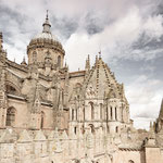 Old and new Cathedral of Salamanca