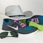Sun protection and leisure items: Sun screen, sun glasses, sun hat, ultralight sneakers, head & neck wear