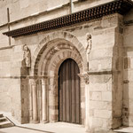 Portal of the romanesque church in Santa Marta de Tera ...
