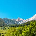 Mountain limestone peak Naranjo de Bulnes, Picos de Europa National Park