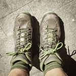Resting pilgrim feet
